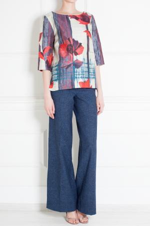 Льняные брюки Thakoon Addition. Цвет: синий