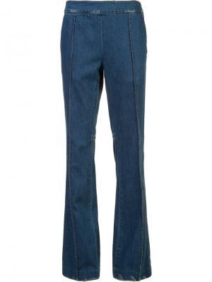 Расклешенные брюки Victor Alfaro. Цвет: синий