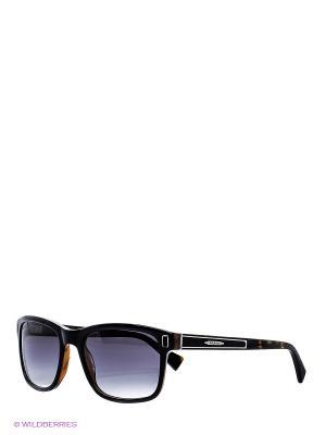 Очки солнцезащитные BLD 1510 101 Baldinini. Цвет: черный, коричневый