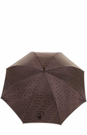 Зонт-трость Moschino. Цвет: коричневый