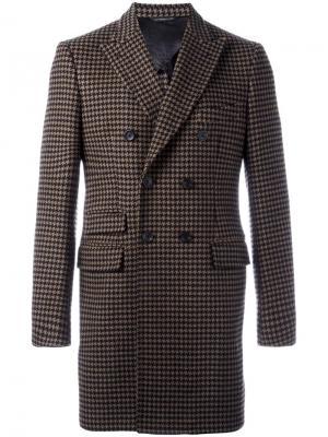 Пальто с вышивкой Tonello. Цвет: коричневый