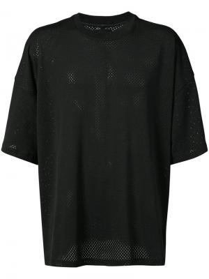 Сетчатая футболка Fear Of God. Цвет: чёрный