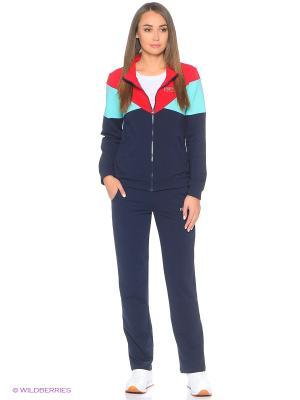 Спортивный костюм FORLIFE. Цвет: бирюзовый, красный, синий