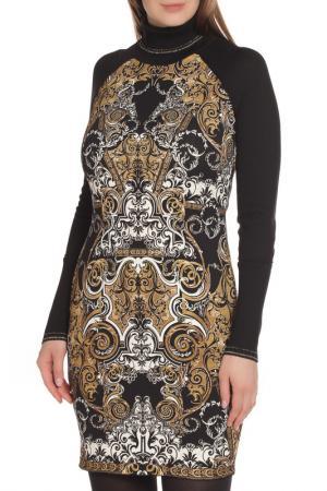 Универсальное платье с длинным рукавом Roberto Cavalli. Цвет: черный принт