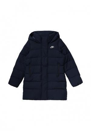 Куртка утепленная Nike. Цвет: синий
