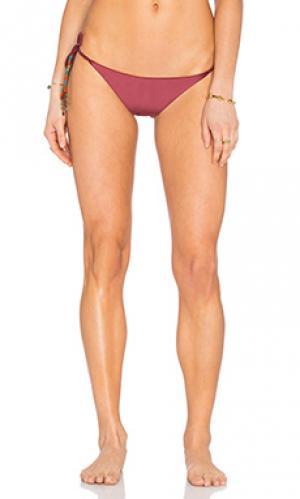 Двусторонние плавки бикини с завязками по бокам SOFIA by ViX. Цвет: вишня