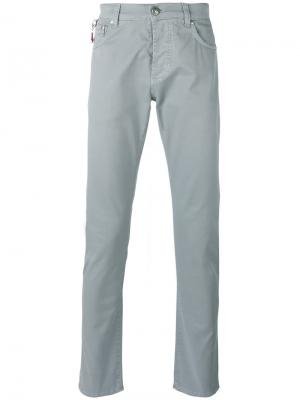 Классические брюки-чинос Isaia. Цвет: серый