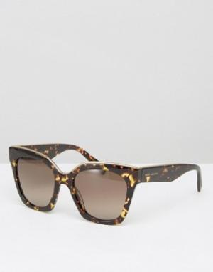 Marc Jacobs Большие черепаховые солнцезащитные очки кошачий глаз. Цвет: коричневый
