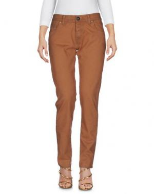 Джинсовые брюки SHIELD. Цвет: верблюжий