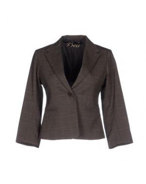 Пиджак BEA. Цвет: темно-коричневый