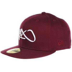 Бейсболка с прямым козырьком  Tag Logo 59/50 Burgundy K1X. Цвет: бордовый