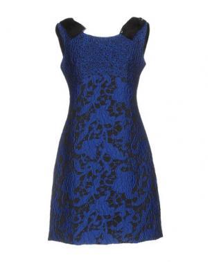 Короткое платье DIDIER PARAKIAN. Цвет: синий