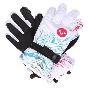 Перчатки сноубордические женские  Jetty Gloves Snowtwist Roxy. Цвет: белый,голубой,черный,розовый
