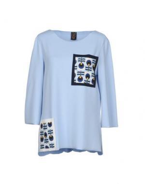Блузка GUTTHA. Цвет: небесно-голубой