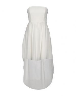 Платье до колена DUCK FARM. Цвет: белый