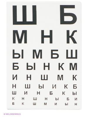Обложка для паспорта ШБ Mitya Veselkov. Цвет: белый, темно-коричневый