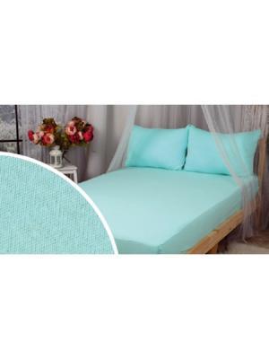Простыня на резинке в детскую кроватку ИП Бердников Е.Г.. Цвет: морская волна