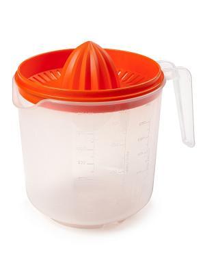 Соковыжималка для цитрусовых (мандарин) Berossi. Цвет: прозрачный, оранжевый