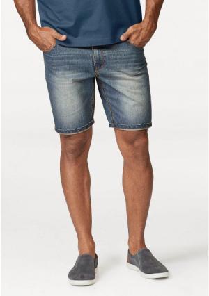 Джинсовые шорты Arizona. Цвет: синий потертый