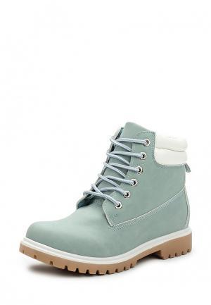 Ботинки Ideal Shoes. Цвет: мятный