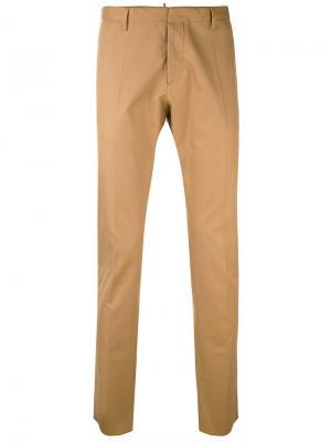 Классические брюки-чинос Dsquared2. Цвет: телесный