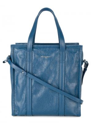 Сумка-тоут Bazar Medium Shopper Balenciaga. Цвет: синий