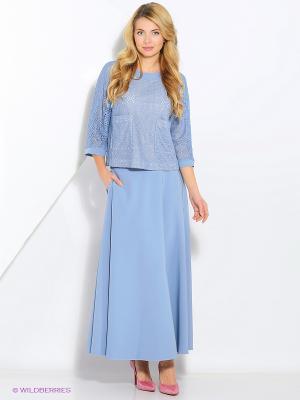 Блузка PAROLE by Victoria Andreyanova. Цвет: голубой