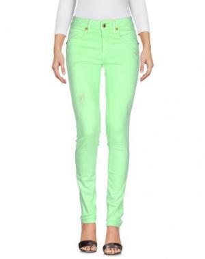 Джинсовые брюки AB/SOUL. Цвет: светло-зеленый