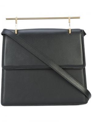 Сумка на плечо с горизонтальной верхней ручкой M2malletier. Цвет: чёрный