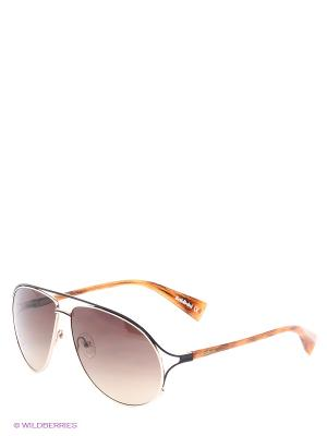Солнцезащитные очки BLD 1407 201 Baldinini. Цвет: золотистый, коричневый