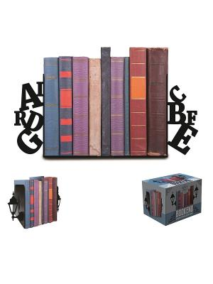 Декоративная подставка-ограничитель для книг Алфавит Magic Home. Цвет: черный