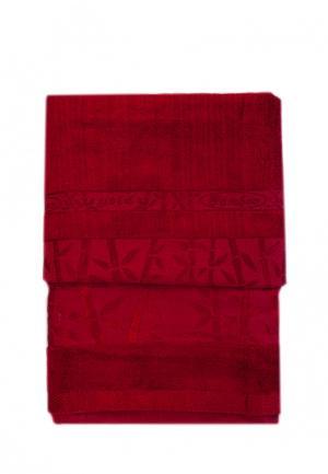 Комплект полотенец 2 шт. La Pastel. Цвет: бордовый