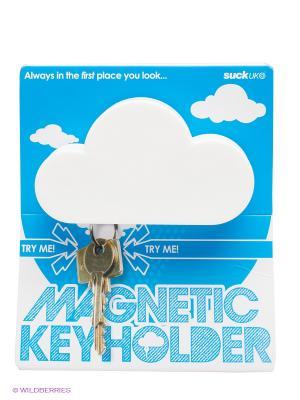 Держатель для ключа магнитный Suck UK. Цвет: белый