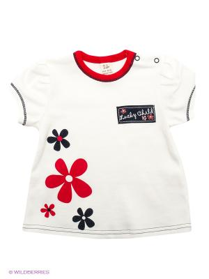 Футболка Lucky Child. Цвет: белый, красный, темно-синий