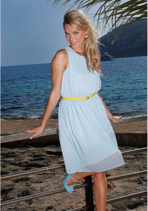 Платье MY STYLE. Цвет: голубой, коралловый