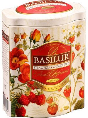 Чай Basilur ФРУКТОВОЕ ВДОХНОВЕНИЕ Клубника и Малина, 1 БАНОЧКА. Цвет: бежевый, красный