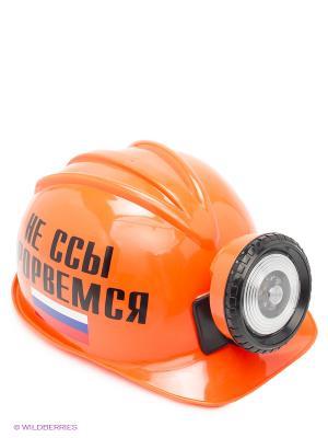 Шлем НЕ ССЫ ПРОРВЕМСЯ  с Российским флагом Экспедиция. Цвет: оранжевый