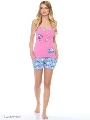 Пижама NICOLETTA. Цвет: розовый, голубой