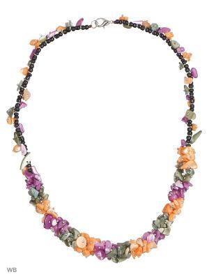 Бусы Vittorio Richi. Цвет: фиолетовый, оранжевый, серый