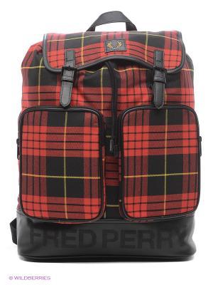 Рюкзаки Fred Perry. Цвет: красный