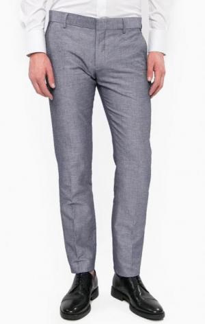 Хлопковые брюки на пуговицах Antony Morato. Цвет: синий