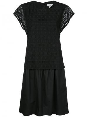 Многослойное платье Public School. Цвет: чёрный