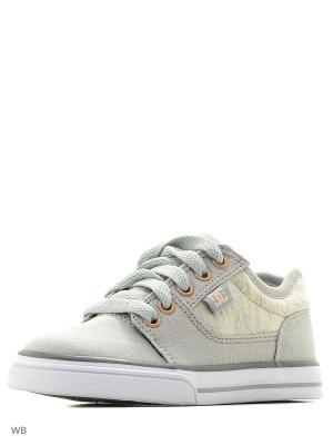 Кеды DC Shoes. Цвет: бежевый, серый
