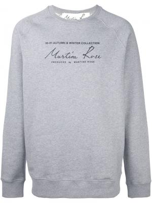 Толстовка Classic Logo Martine Rose. Цвет: серый