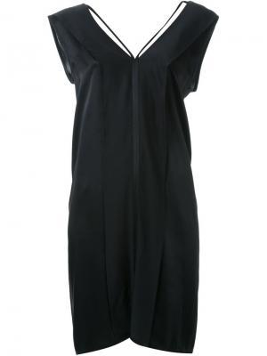 Платье с открытой спиной Ann Demeulemeester. Цвет: чёрный