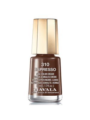 Лак для ногтей тон 310 Espresso Mavala. Цвет: темно-коричневый