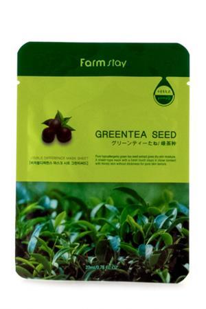Маска для лица Зеленый чай FARMSTAY. Цвет: none