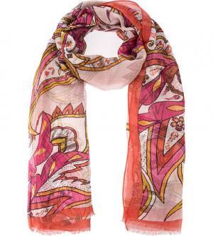 Легкий шарф с цветочным принтом FRAAS. Цвет: цветочный принт