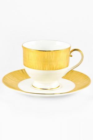 Набор: 6 чайных пар Narumi. Цвет: золотой