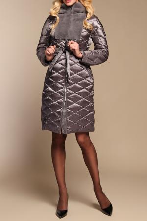 Пуховое пальто Naumi. Цвет: темно-серый